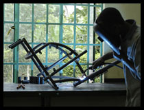 Welding a wheelchair frame