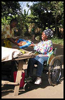 Mobility Care wheelchair in use