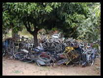 Scrap heap of imported wheelchairs